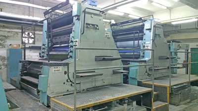 二手罗兰804-6全张四色92年二手印刷机