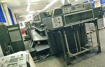 二手海德堡印刷机93年SM102-5(1+4或5+0)电脑酒精
